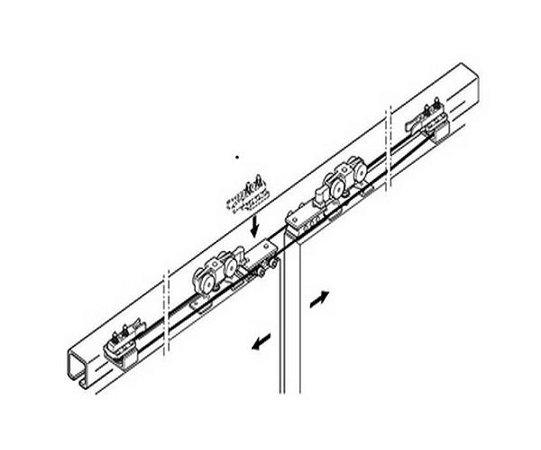 940.44.002 К-т фурнітури SLIDO CLAS.SYNCRO P для 2-х дверей