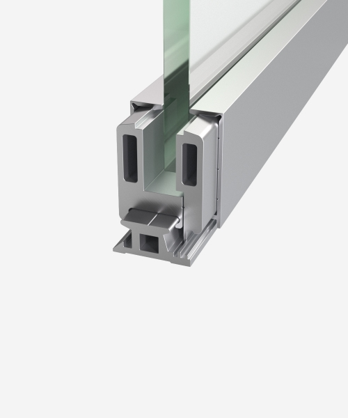 Clamping profile for EA40 glass