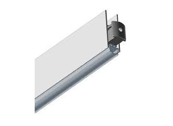 Поріг нижній для скляних дверей, GLASS BOTTOM 830mm, 10мм