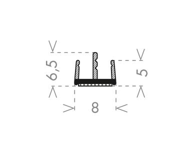 Ущільнювач  GLASS LIP L-3000