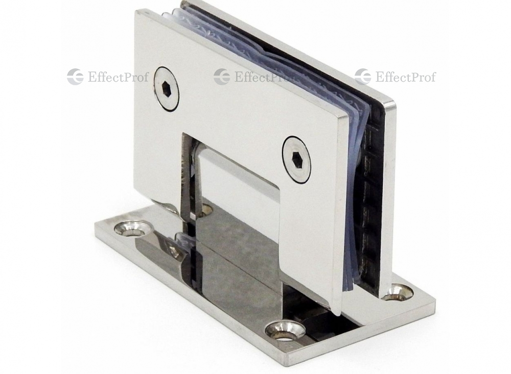 K-101 Wall-glass hinge with fixation 90