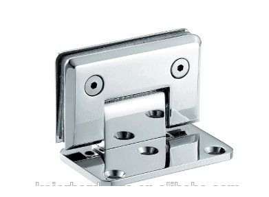 HDL-305 / K-200B Glass wall hinge with fixation one-sided fastening 90 degrees