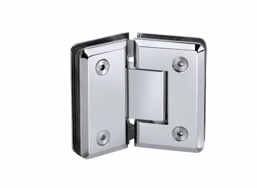 KE-135B Glass hinge glass with fixation 135 deg.