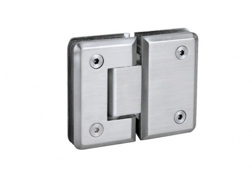 KE-180C Glass hinge glass with fixation 180 deg.
