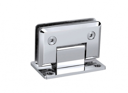 KE-90A Glass wall hinge with fixation, double-sided fixing 90 deg.