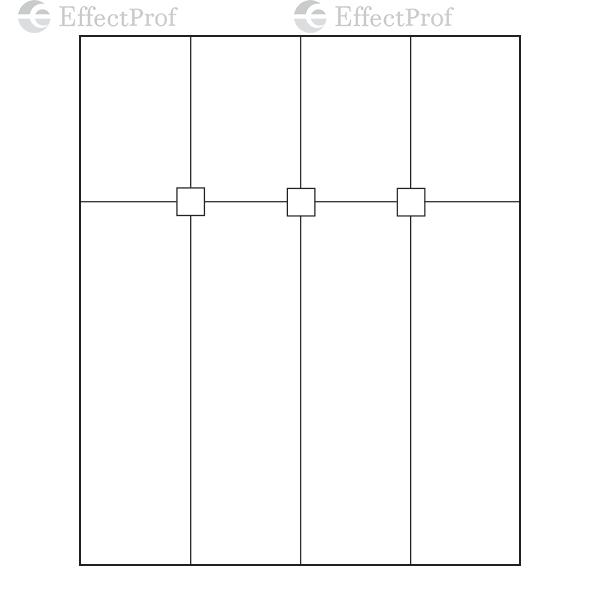 HDL-122A / K-PF586 Фіксатор для з'єднання 4-х панелей (106x106)