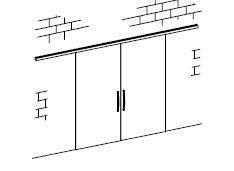 TLG 213 SF Комплект для розсувних дверей/дві стулки кріплення на стіну