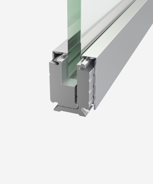 Clamping profile for glass Н-40