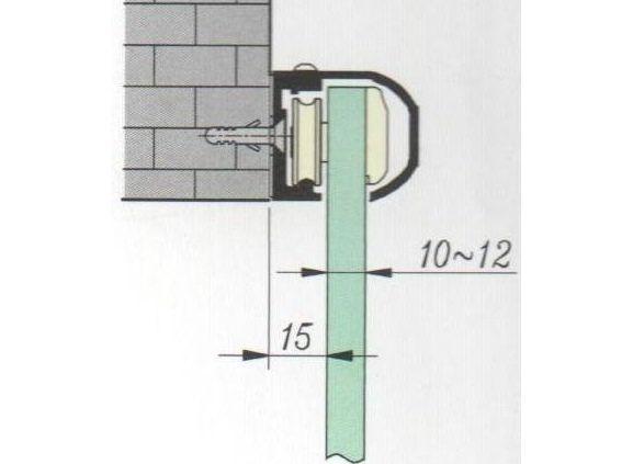 TLG 213 SF Комплект для розсувних дверей/одна стулка кріплення на стіну