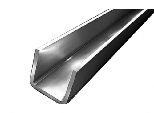 8P1032 Stainless steel profile polished 15 * 13mm